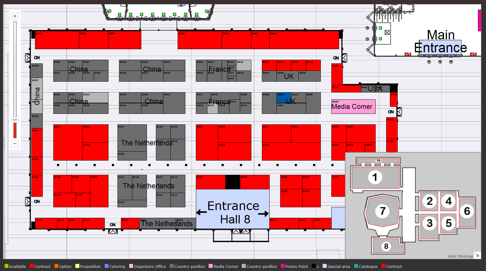 Europort exhibition layout