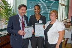 Staff receiving awards for DLR6 work