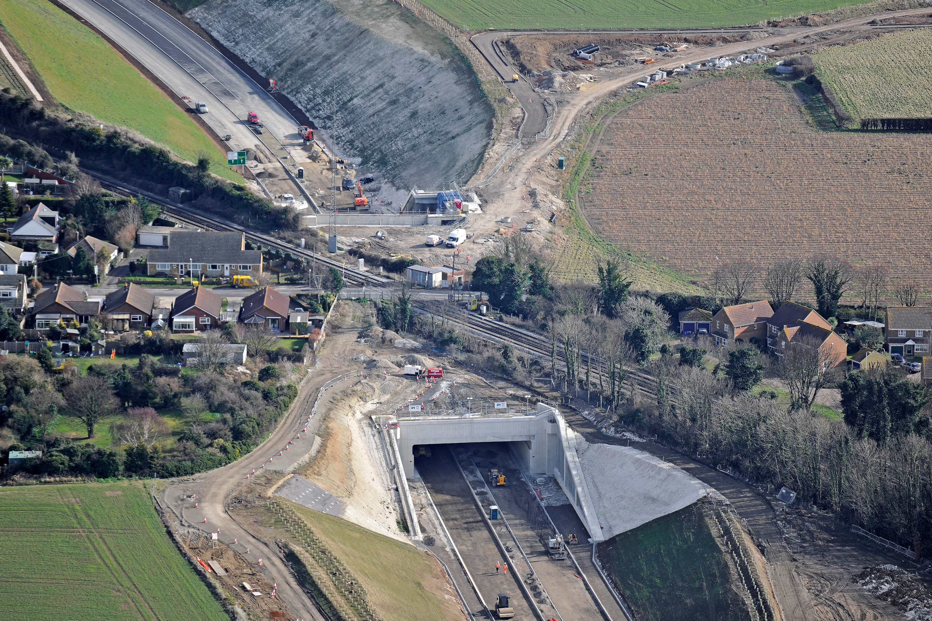 Aerial of the East Kent Access project