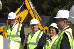 Ashford regeneration Victoria Way sod cutting 1